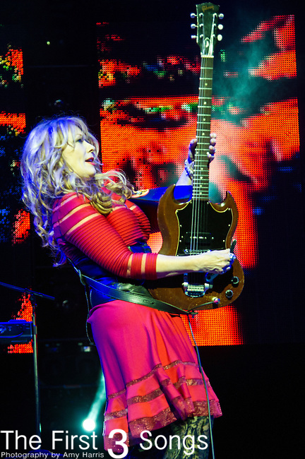 Nancy Wilson of Heart performs at Riverbend Music Center in Cincinnati, Ohio.