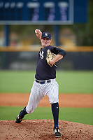 New York Yankees Derek Craft (50) during a Minor League Spring Training game against the Atlanta Braves on March 12, 2019 at New York Yankees Minor League Complex in Tampa, Florida.  (Mike Janes/Four Seam Images)