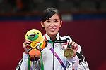 Miyu Yamada (JPN), <br /> AUGUST 23, 2018 - Taekwondo : Women's -49kg Victory ceremony at Jakarta Convention Center Plenary Hall during the 2018 Jakarta Palembang Asian Games in Jakarta, Indonesia. <br /> (Photo by MATSUO.K/AFLO SPORT)