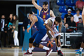 3rd November 2017, Palau Blaugrana, Barcelona, Spain; Turkish Airlines Euroleague Basketball, FC Barcelona Lassa versus Olympiacos Piraeus; #15 PRINTEZIS, GEORGIOS of OLYMPIACOS PIRAEUS in action during the match of round 5 of regular season in the 2017/2018 Turkish Airlines EuroLeague