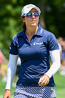 Marina Alex (USA) after sinking her putt on 1 during Saturday's third round of the 72nd U.S. Women's Open Championship, at Trump National Golf Club, Bedminster, New Jersey. 7/15/2017.<br /> Picture: Golffile | Ken Murray<br /> <br /> <br /> All photo usage must carry mandatory copyright credit (&copy; Golffile | Ken Murray)