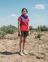 Sabrina Tong with the University of Washington at the Spaceport America Cup near the town of Truth or Consequences, New Mexico, Friday, June 23, 2017. The International Intercollegiate Rocket Engineering Competition hosted over 110 teams from colleges and universities in eleven countries. Students launched solid, liquid, and hybrid rockets to target altitudes of 10,000 and 30,000 feet. The 2017 Spaceport America Cup winner was the University of Michigan, Ann Arbor, Team 79.<br /> <br /> Photo by Matt Nager