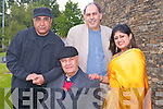 INDIAN FILM FESTIVAL: Bollywood Life Time Achiement Award winner and acting legend Mr Prem Chopra attending Kerry's first Indian Film Festival of Ireland at Siamsa Tire, Tralee on Friday seated Mr Prem Chopra. Back l-r: Mr Avtar Bhogal (film director), Mr Siraj Zaidi (director IFFI) and Sonali Flynn (Kerry director IFFI).