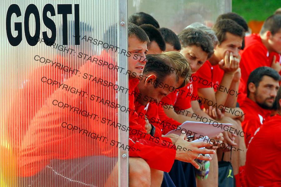 Fudbal season 2013-2014<br /> FK Crvena Zvezda pripreme<br /> Crvena Zvezda v Krka<br /> Head coach Nenad Lalatovic<br /> Novo Mesto, 07.12.2014.<br /> foto: Srdjan Stevanovic/Starsportphoto &copy;