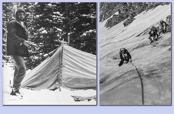 Leading Taylor Glacier for the Colorado Mountain Club, Boulder, Colorado.