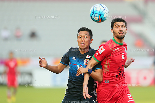 Yuya Kubo (JPN), <br /> JANUARY 22, 2016 - Football / Soccer : <br /> AFC U23 Championship Qatar 2016 <br /> Quarter-final match between <br /> Japan 3-0 Iran <br /> at Abdullah Bin Khalifa Stadium in Doha, Qatar. <br /> (Photo by Yohei Osada/AFLO SPORT)