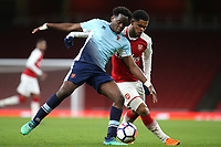Nana Avarkwa of Blackpool and Arsenal's Trae Coyle challenge for the ball during Arsenal Youth vs Blackpool Youth, FA Youth Cup Football at the Emirates Stadium on 16th April 2018