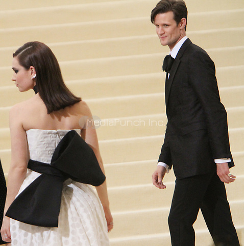 NEW YORK, NY May 01, 2017 Matt Smith, Lily James attend  The Metropolitan Museum of Art Costume Institute Benefit Gala for Rei Kawakubo Comme des Garcons at  Metropolitan Museum of Art  in New York May 01,  2017. Credit:RW/MediaPunch
