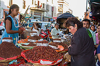 "Oaxaca, Mexico, North America.  Day of the Dead Celebrations.  Roasted Grasshoppers for sale in the Market.  ""The small ones are the best."""