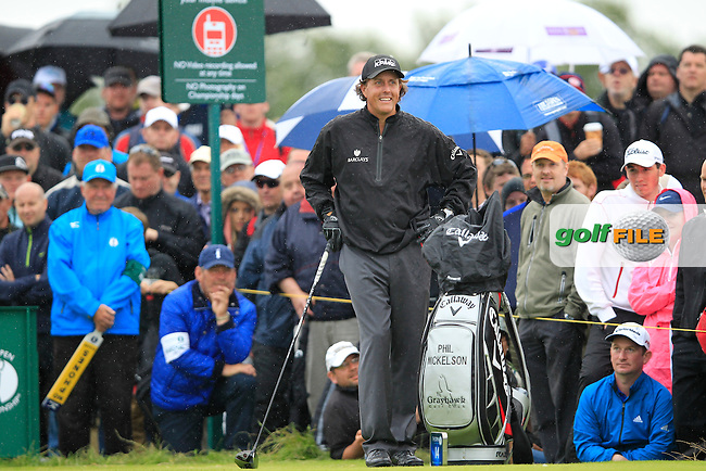 Phil Mickelson (USA) waits to tee off the 14th tee during Thursday's Round 1 of the 141st Open Championship at Royal Lytham & St.Annes, England 19th July 2012 (Photo Eoin Clarke/www.golffile.ie)