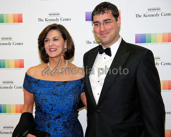 Victoria Reggie Kennedy and guest arrive for the formal Artist's Dinner honoring the recipients of the 39th Annual Kennedy Center Honors hosted by United States Secretary of State John F. Kerry at the U.S. Department of State in Washington, D.C. on Saturday, December 3, 2016. The 2016 honorees are: Argentine pianist Martha Argerich; rock band the Eagles; screen and stage actor Al Pacino; gospel and blues singer Mavis Staples; and musician James Taylor. Photo Credit: Ron Sachs/CNP/AdMedia