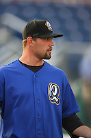 April 15 2009: Mason Tobin of the Rancho Cucamonga Quakes before game against the Visalia Rawhide at The Epicenter in Rancho Cucamonga,CA.  Photo by Larry Goren/Four Seam Images