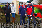 Launching the Jimmy Duffy Memorial cycle in Blennerville on Monday last, l-r, James O'Connor (Lohercannon), Mary Burn (Annagh), and the organising committee Paul Burn (Annagh) and George Poff (Lohercannon).