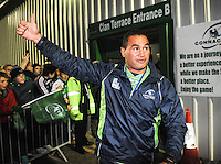 19th September 2014; <br /> Connacht coach Pat Lam at the end of the game.<br /> Guinness PRO12, Connacht v Leinster . <br /> The Sportsground, Galway. <br /> Picture credit: Tommy Grealy/actionshots.ie
