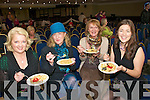 Sampling the Fish Paella cooked by Gurka Arietta of Spa Sea Foods  at the Listowel Arms Hotel on Saturday were Noreen Landers,  Tralee, Caroline Barrett, Listowel, Etta O'Driscoll & Marie Lynch from Tralee.