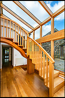 BNPS.co.uk (01202)558833<br /> Pic:    Savills/BNPS<br /> <br /> Staircase inside the main house.<br /> <br /> A country estate that has its own farm, tea rooms and glamping business in the heart of the Lake District has gone on market for those looking to escape the rat race.<br /> <br /> Backside Farm sits on the banks of Ullswater - the second largest lake in the Cumbrian National Park - and has one mile of water access as well as stunning views of the mountains. <br /> <br /> The outgoing owners have been on the 195 acre estate for over a decade and in that time they have renovated the large five bedroom farmhouse.<br /> <br /> They also set up the tea rooms and two holiday rental cabins and have established them as a business.