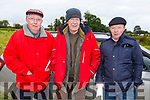 Tom Tanner (West Cork), Paddy Hurley (Ballymac) and Sean Flaherty (Lixnaw) at the Kilflynn coursing meeting on Sunday.