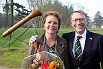 SOESTDUINEN - Nieuwe NGF bestuursleden. Willem Zelsmann (voorz.)  en Liz Weima . Algemene Ledenvergadering van de NGF (Nederlandse Golf Federatie) met bestuurswisseling. COPYRIGHT KOEN SUYK
