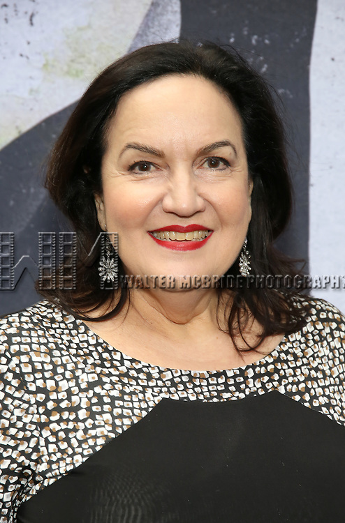 """Olga Merediz attends the Broadway Opening Night Performance for """"Beetlejuice"""" at The Wintergarden on April 25, 2019  in New York City."""