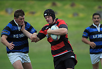 Action from the Horowhenua-Kapiti premier club rugby union match between Toa and Paraparaumu at Waikanae Domain in Waikanae, New Zealand on Saturday, 12 May 2018. Photo: Dave Lintott / lintottphoto.co.nz