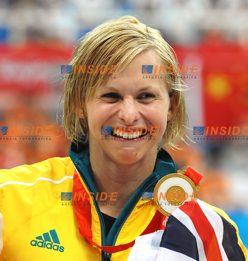 Lisbeth Trickett of Australia, Gold Medal, women's 100M Butterfly<br /> National Aquatics Center<br /> Pechino - Beijing 11/8/2008 Olimpiadi 2008 Olympic Games<br /> Foto Andrea Staccioli Insidefoto