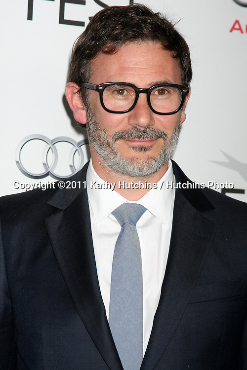 """LOS ANGELES - NOV 6:  Michel Hazanavicius arrives at the """"My Week with Marilyn"""" Screening at the AFI Fest 2011 at Grauman's Chinese Theater on November 6, 2011 in Los Angeles, CA"""