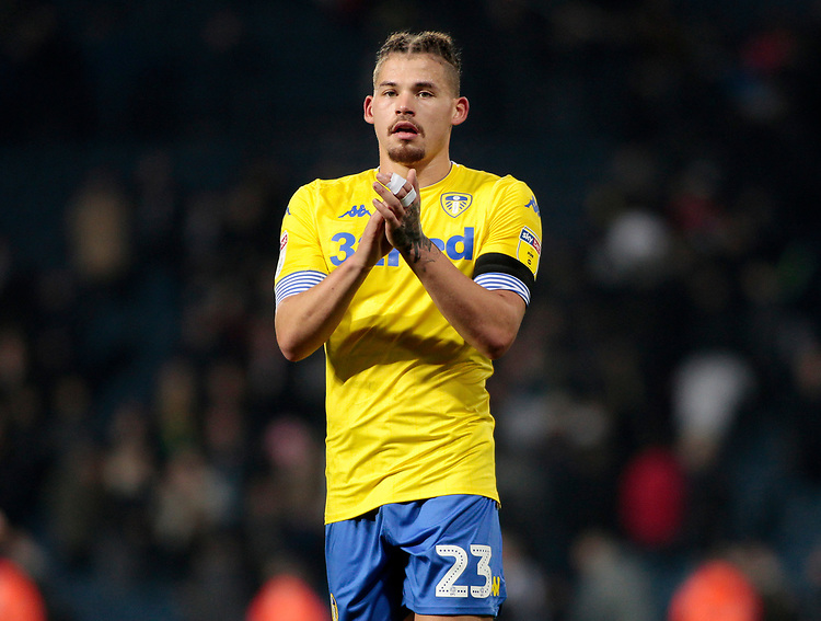Leeds United's Kalvin Phillips applauds the fans at the final whistle <br /> <br /> Photographer David Shipman/CameraSport<br /> <br /> The EFL Sky Bet Championship - West Bromwich Albion v Leeds United - Saturday 10th November 2018 - The Hawthorns - West Bromwich<br /> <br /> World Copyright © 2018 CameraSport. All rights reserved. 43 Linden Ave. Countesthorpe. Leicester. England. LE8 5PG - Tel: +44 (0) 116 277 4147 - admin@camerasport.com - www.camerasport.com