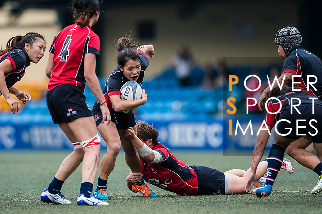 Kwong Sau Yan of Dragons (C) in action during the Women's National Super Series 2017 on 13 May 2017, in Hong Kong Football Club, Hong Kong, China. Photo by Marcio Rodrigo Machado / Power Sport Images