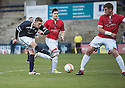 Deveronvale's Scott Fraser blocks Raith's Pat Clarke's shot   ...