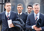 New Rangers manager Pedro Caixinha arrives at Celtic Park with directors Andrew Dickson and Stewart Robertson