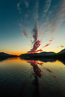 Twilight, Nakwasina Sound,  Inside Passage, Southeast Alaska USA.