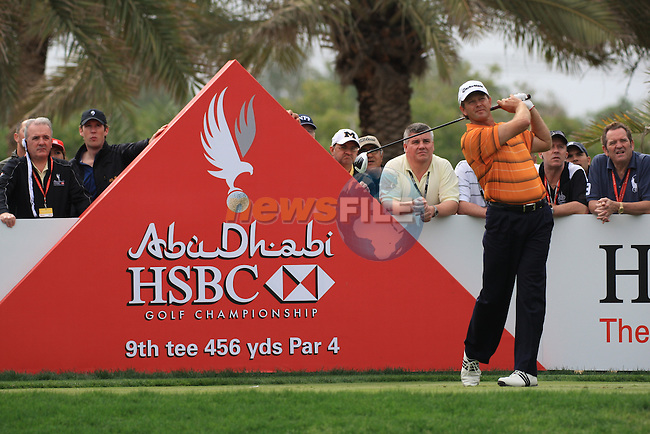 Retief Goosen teeing off on the 9th tee on day two of the Abu Dhabi HSBC Golf Championship 2011, at the Abu Dhabi golf club, UAE. 21/1/11..Picture Fran Caffrey/www.golffile.ie.