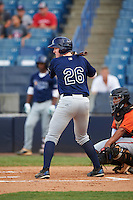 Tim Elko (26) of Hillsborough High School in Lutz, Florida playing for the Tampa Bay Rays scout team during the East Coast Pro Showcase on August 3, 2016 at George M. Steinbrenner Field in Tampa, Florida.  (Mike Janes/Four Seam Images)