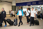 Stoke City Players arrive at the Hong Kong International Airport for the HKFC Citi Soccer Sevens on 18 May 2016 in Hong Kong, China. Photo by Panda Man / Power Sport Images