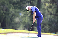 Peter Hanson (SWE) putts on the 15th green during Thursday's Round 1 of the 2017 Omega European Masters held at Golf Club Crans-Sur-Sierre, Crans Montana, Switzerland. 7th September 2017.<br /> Picture: Eoin Clarke | Golffile<br /> <br /> <br /> All photos usage must carry mandatory copyright credit (&copy; Golffile | Eoin Clarke)