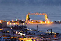 &quot;Aerial Lift Bridge in Sea Smoke&quot;<br />