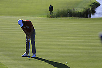 Tommy Fleetwood (Team Europe) putts on the 10th green during Saturday's Foursomes Matches at the 2018 Ryder Cup 2018, Le Golf National, Ile-de-France, France. 29/09/2018.<br /> Picture Eoin Clarke / Golffile.ie<br /> <br /> All photo usage must carry mandatory copyright credit (&copy; Golffile | Eoin Clarke)