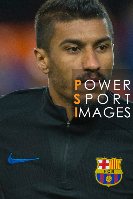 Jose Paulo Bezerra Maciel Junior, Paulinho, of FC Barcelona in training prior to the La Liga 2017-18 match between Valencia CF and FC Barcelona at Estadio de Mestalla on November 26 2017 in Valencia, Spain. Photo by Maria Jose Segovia Carmona / Power Sport Images