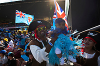 Sevens fans during the Semi-Finals at the 2019 HSBC World Sevens Series Hamilton,  at FMG Stadium in Hamilton, New Zealand on Sunday, 27 January 2018. Photo: Brett Phibbs / lintottphoto.co.nz