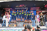 Movistar Team win the team classification at the end of Stage 21, the final stage of the 100th edition of the Giro d'Italia 2017, an individual time trial running 29.3km from Monza Autodrome to Milan Duomo, Italy. 28th May 2017.<br /> Picture: LaPresse/Gian Mattia D'Alberto | Cyclefile<br /> <br /> <br /> All photos usage must carry mandatory copyright credit (&copy; Cyclefile | LaPresse/Gian Mattia D'Alberto)