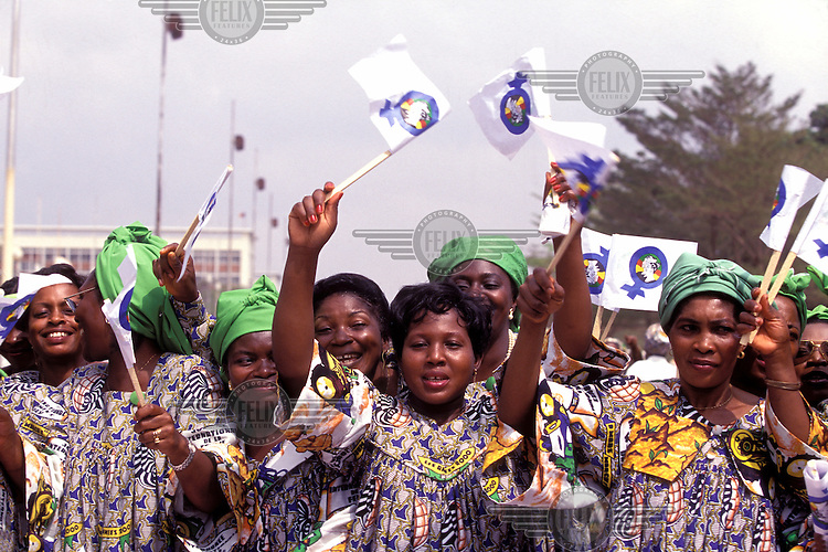 © Giacomo Pirozzi / Panos Pictures..Yaounde, CAMEROON..Women celebrating International Women's Day in the capital.