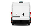 Straight rear view of 2016 Fiat Ducato MultiJet-MH2 4 Door Cargo Van Rear View  stock images