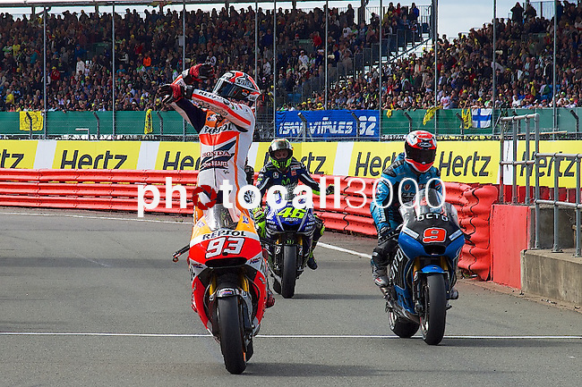 hertz british grand prix during the world championship 2014.<br /> Silverstone, england<br /> August 31, 2014. <br /> Race MotoGP<br /> marc marquez<br /> PHOTOCALL3000/ RME