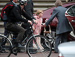 Paul McCartney wedding to Nancy Shevell at Westminster Registry Office in Marylebone Road, London.today 9.10.11.His daughter with Heather Mills, Beatrice Milly leaves the service taken into a waiting car......Pic by Gavin Rodgers/Pixel 8000 Ltd