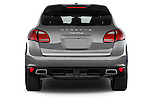 Straight rear view of a 2014 Porsche Cayenne Hybrid S 5 Door SUV