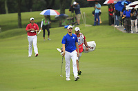 Thomas Pieters (Europe) on the 8th fairway during the Friday Foursomes of the Eurasia Cup at Glenmarie Golf and Country Club on the 12th January 2018.<br /> Picture:  Thos Caffrey / www.golffile.ie