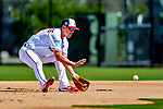 21 February 2019: Washington Nationals infielder Matt Reynolds takes infield drills during a Spring Training workout at the Ballpark of the Palm Beaches in West Palm Beach, Florida. Mandatory Credit: Ed Wolfstein Photo *** RAW (NEF) Image File Available ***