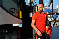 East Rutherford, NJ - Sunday June 26, 2016: Chile arriving prior to a Copa America Centenario finals match between Argentina (ARG) and Chile (CHI) at MetLife Stadium.