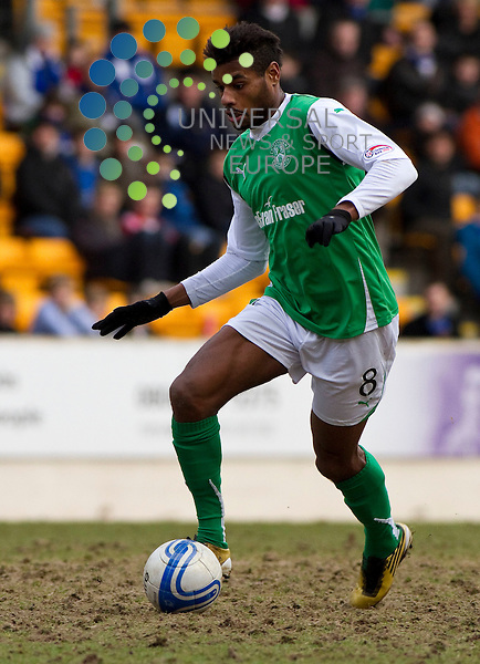 St Johnstone v Hibernian  SPL season 2010-2011 ..Ricardo Vaz Te makes his debut for hibs during the Clydesdale Bank Premier League match between St Johnstone and Hibernian. At McDiarmid Park Stadium on 5th March 2011 in Perth, Scotland...Picture: Alan Rennie/Universal News and Sport (Scotland).