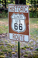 Hitoric Illinois US Route 66 Roadsign.